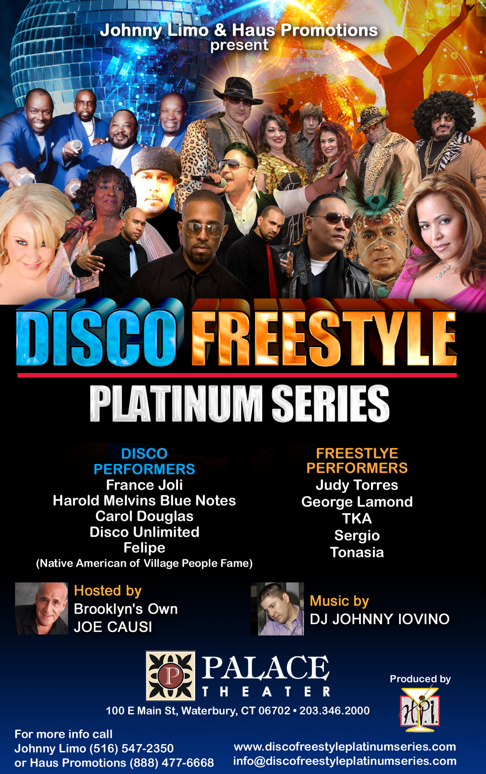 Disco Freestyle Platinum Service - Long Island Adventures